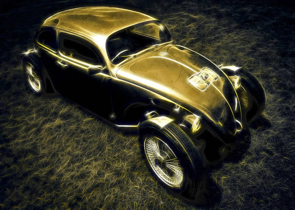 Vw Beetle Poster featuring the photograph Rat Beetle by motography aka Phil Clark