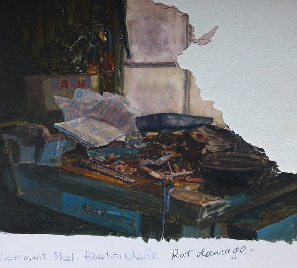 Interior Poster featuring the painting Rat Damage by Terry Perham