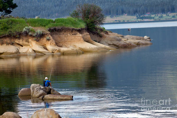 Idaho Poster featuring the photograph Relaxed Fisherman by Robert Bales