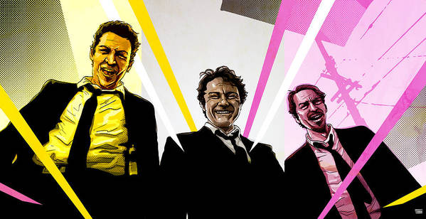 Digital Poster featuring the digital art Reservoir Dogs by Jeremy Scott