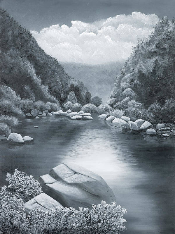 Ozarks Poster featuring the painting Richland Creek by Garry McMichael