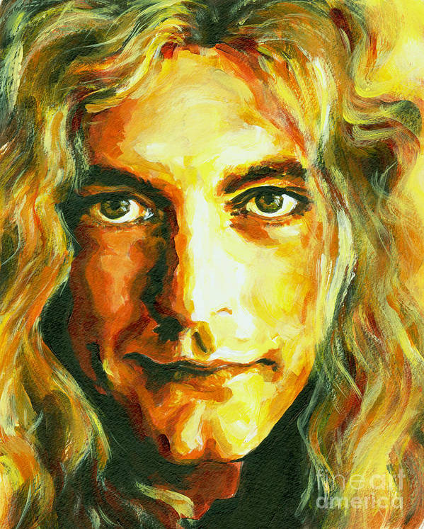 Tanya Poster featuring the painting Robert Plant. The Enchanter by Tanya Filichkin