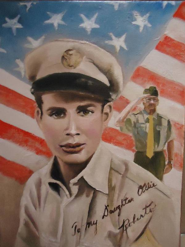 Roberto Poster featuring the painting Roberto by Luz Perez