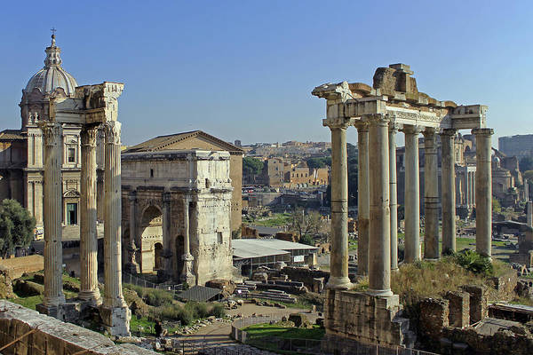 Rome Poster featuring the photograph Roman Forum by Tony Murtagh