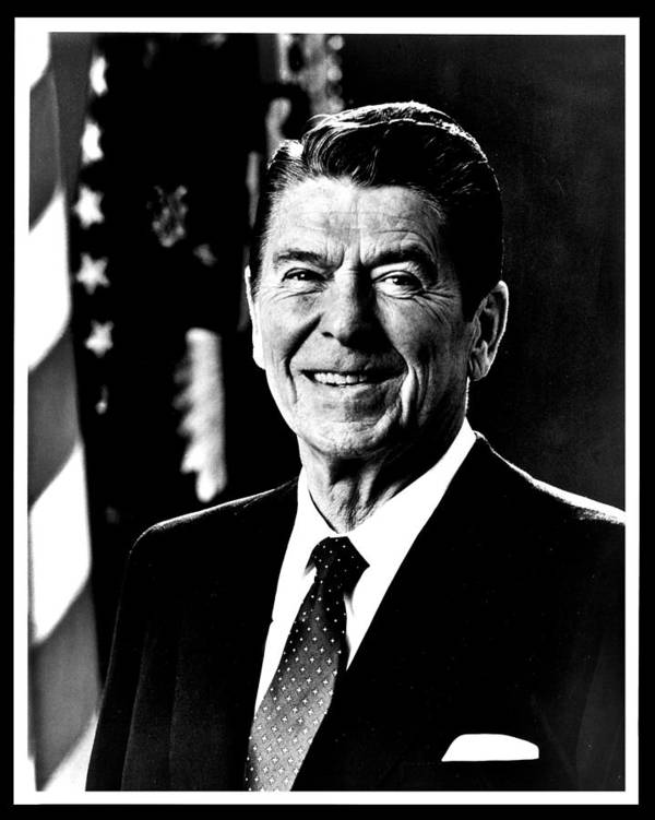 Ronald Poster featuring the photograph Ronald Reagan by Benjamin Yeager