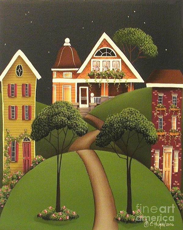 Art Poster featuring the painting Rose Hill Lane by Catherine Holman