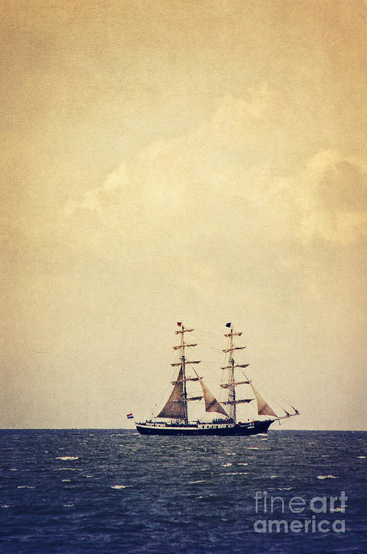 Sailing Poster featuring the photograph Sailing II by Angela Doelling AD DESIGN Photo and PhotoArt