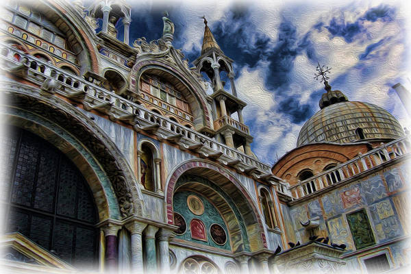 The Patriarchal Cathedral Basilica Of Saint Mark Poster featuring the photograph Saint Mark's Basilica by Lee Dos Santos