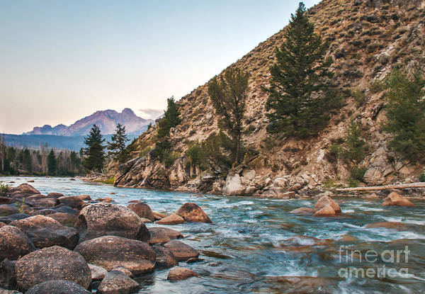 Rocky Mountains Poster featuring the photograph Salmon River In The Twilight by Robert Bales