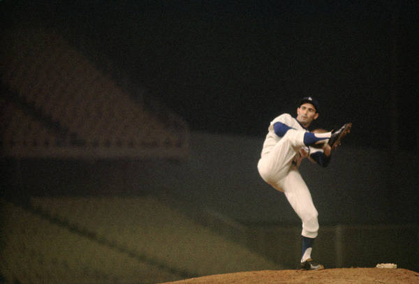 Classic Poster featuring the photograph Sandy Koufax High Kick by Retro Images Archive