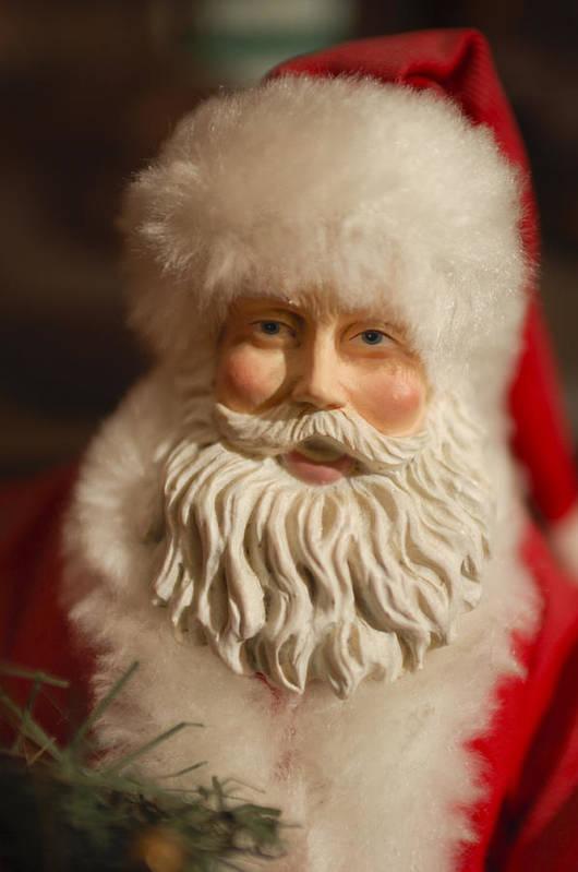 Santa Claus Poster featuring the photograph Santa Claus - Antique Ornament - 07 by Jill Reger
