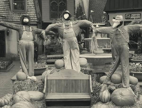 Scarecrows In Autumn Gatlinburg Tennessee Poster featuring the photograph Scarecrows In Autumn Gatlinburg Tennessee by Dan Sproul