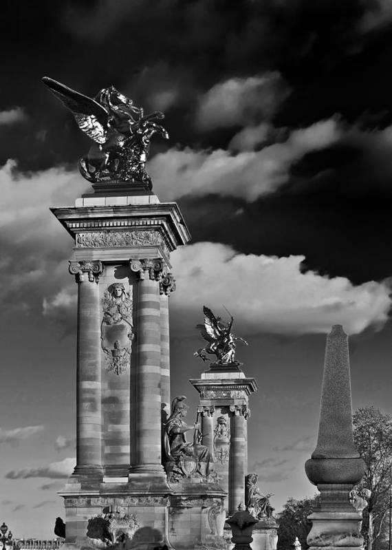 Paris Poster featuring the sculpture Sculptures Of Paris by Mountain Dreams