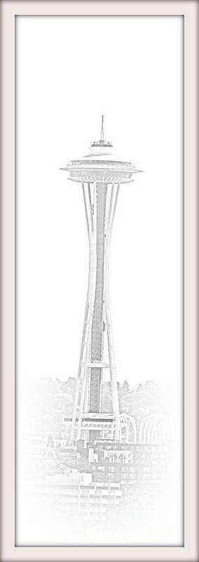 Seattle Poster featuring the photograph Seattle Space Needle by Barbara Henry