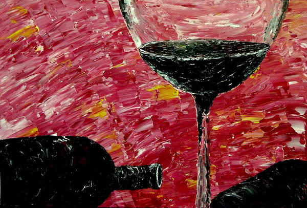 Fine Wine Poster featuring the painting Sensual Illusions by Mark Moore