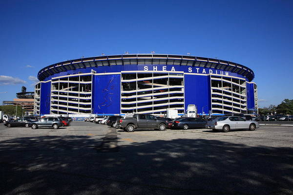 America Poster featuring the photograph Shea Stadium - New York Mets by Frank Romeo