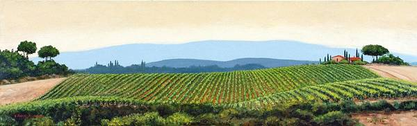 Tuscany Landscape Poster featuring the painting Sienna Hills by Michael Swanson