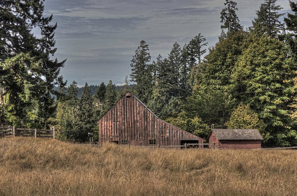 Barn Poster featuring the photograph Simpler Times by Randy Hall