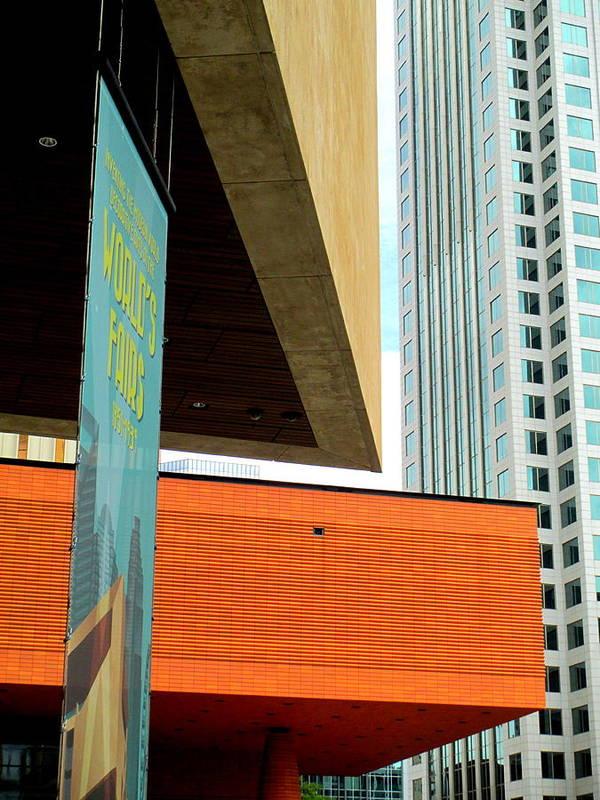 Bechtler Museum Of Modern Art Poster featuring the photograph Slice Of Sky by Randall Weidner