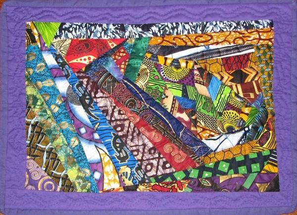 Abstract Poster featuring the tapestry - textile Small Wonder by Aisha Lumumba