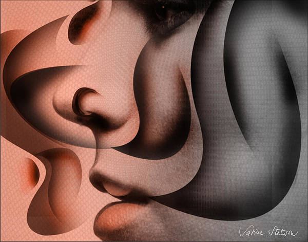 Lips Poster featuring the digital art Smoothee by Sabine Stetson