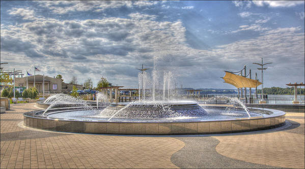 Hdr Poster featuring the photograph Smothers Park Fountains #1 by Wendell Thompson