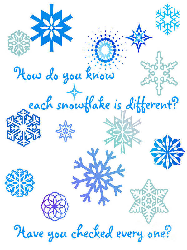 Snowflakes Poster featuring the digital art Snowflakes by Methune Hively