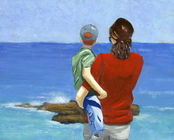 La Jolla Poster featuring the painting Son Of A Sailor by Karyn Robinson