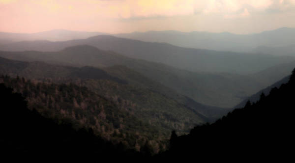 Smokey Mountain National Park Poster featuring the photograph Song Of Serenity by Karen Wiles