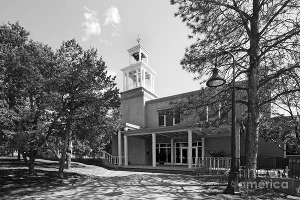 Monte Sol Poster featuring the photograph St. John's College Santa Fe Weigle Hall by University Icons