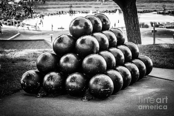 America Poster featuring the photograph St. Joseph Michigan Cannon Balls Picture by Paul Velgos