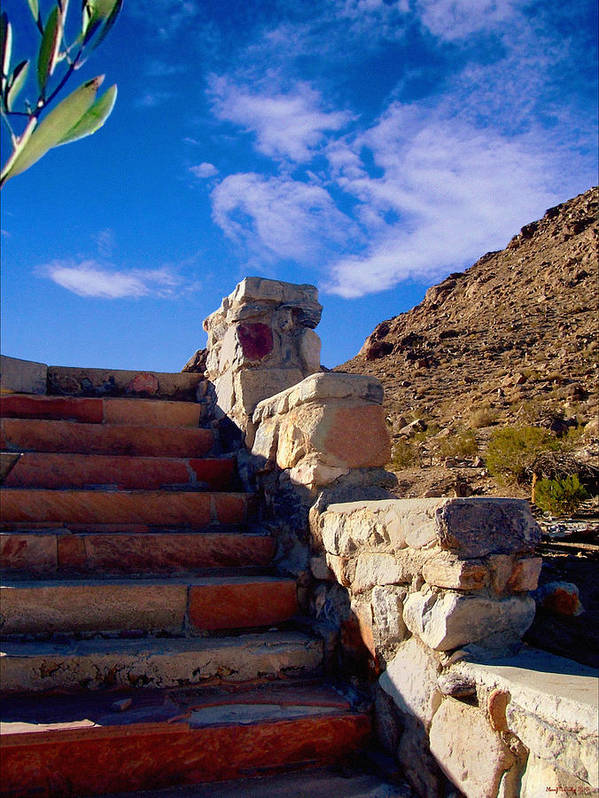 Desert Landscape Poster featuring the photograph Stairway To by Glenn McCarthy Art and Photography