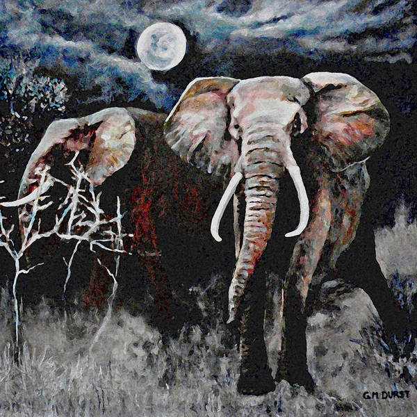 Elephant Poster featuring the painting Stand Your Ground by Michael Durst