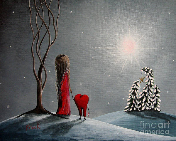 Winter Poster featuring the painting Star Of Hope By Shawna Erback by Shawna Erback