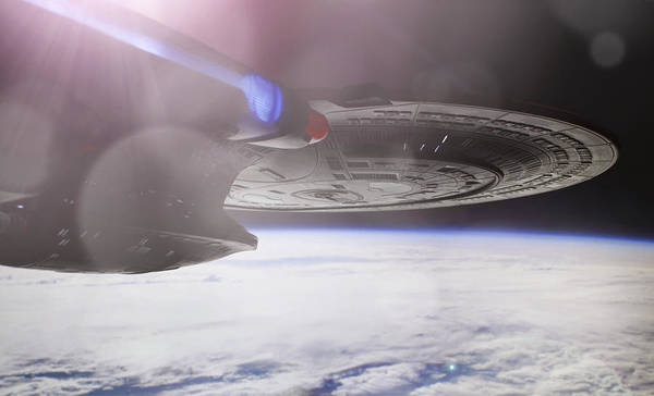 Star Trek Poster featuring the photograph Star Trek - A New Civilization by Jason Politte