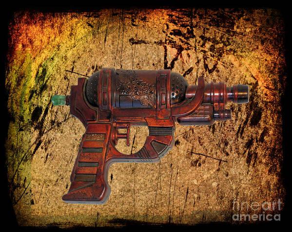 Paul Ward Poster featuring the photograph Steampunk - Gun - Ray Gun by Paul Ward