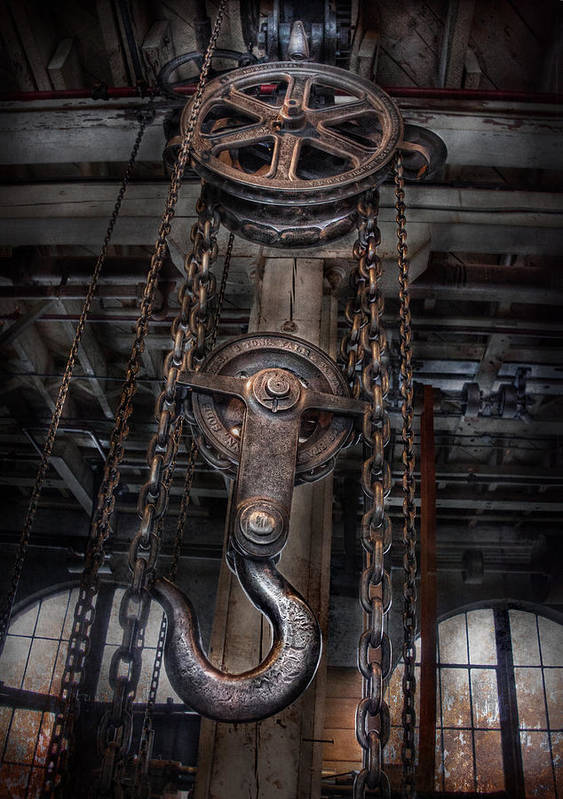 Hdr Poster featuring the photograph Steampunk - Industrial Strength by Mike Savad