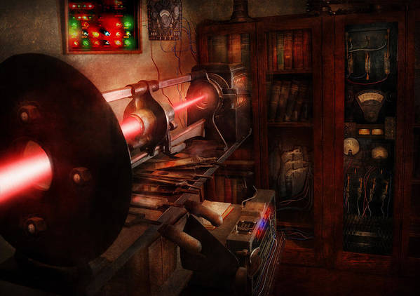 Cyberpunk Poster featuring the photograph Steampunk - Photonic Experimentation by Mike Savad