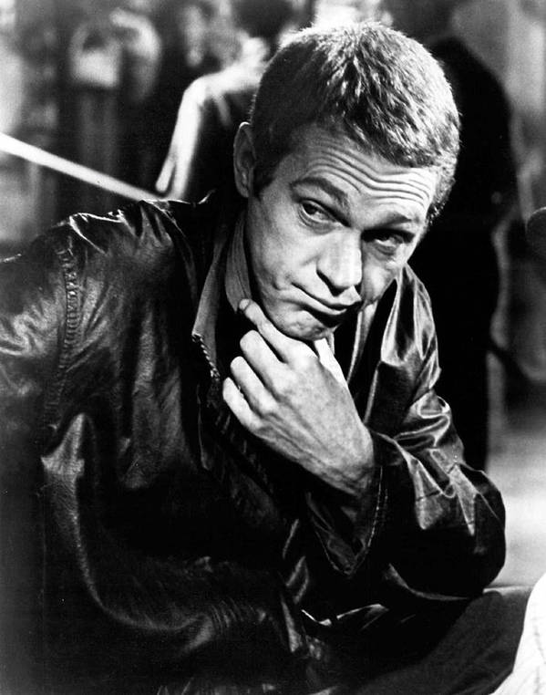 Retro Images Archive Poster featuring the photograph Steve Mcqueen Hand On Chin by Retro Images Archive