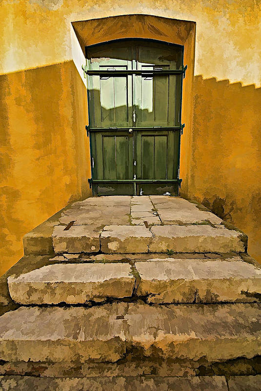 Canvas Poster featuring the photograph Stone Stair Entranceway by David Letts