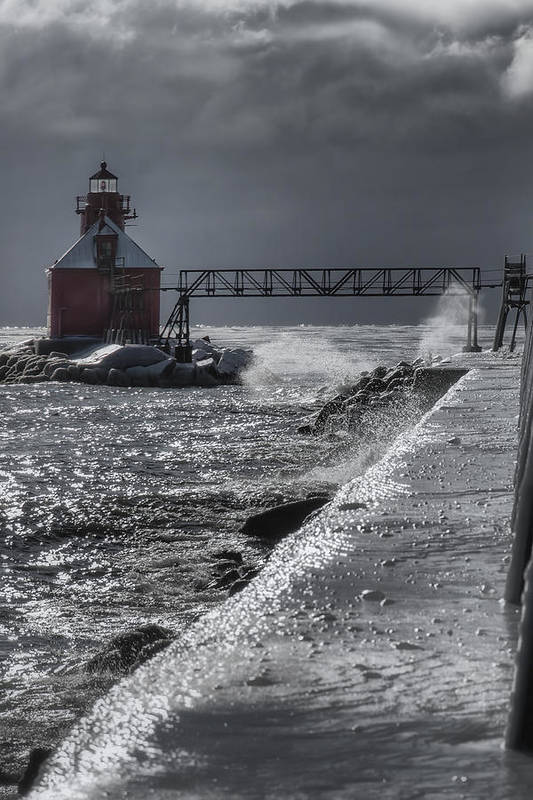 Bay Poster featuring the photograph Sturgeon Bay After The Storm by Joan Carroll