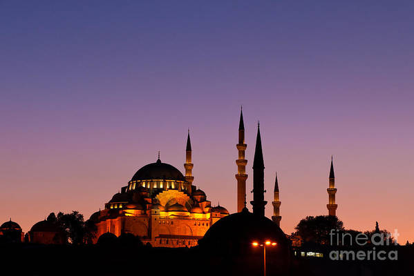 Istanbul Poster featuring the photograph Suleymaniye Sundown 03 by Rick Piper Photography