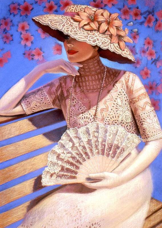Woman Poster featuring the painting Summer Time by Sue Halstenberg