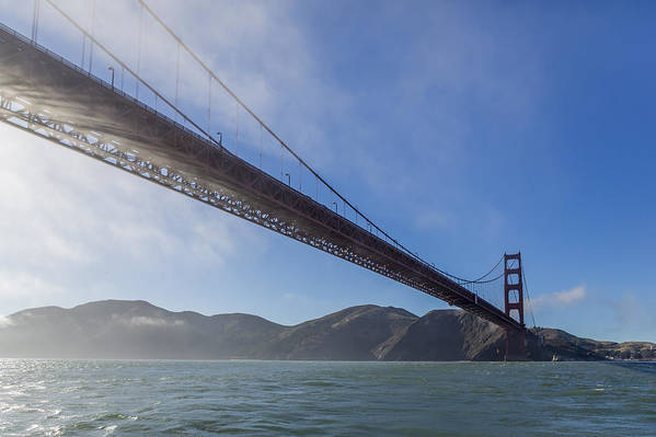 Golden Gate Bridge Poster featuring the photograph Sun Beams Through The Golden Gate by Scott Campbell