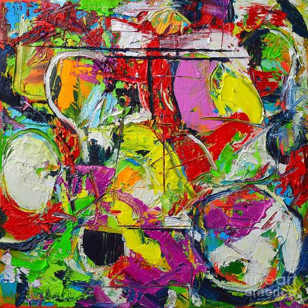 Abstract Poster featuring the painting Sunday Mood by Ana Maria Edulescu