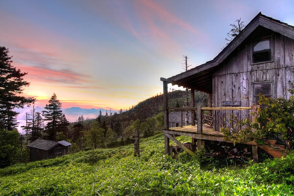 Appalachia Poster featuring the photograph Sunrise At Mt Leconte by Debra and Dave Vanderlaan