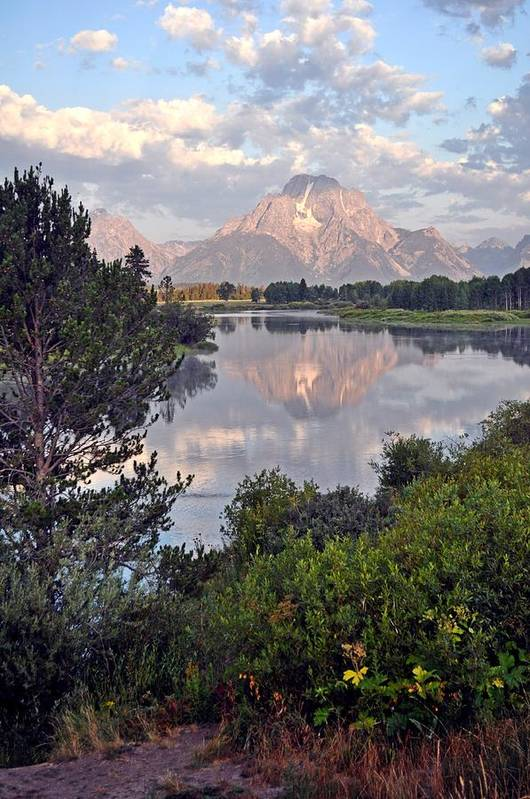 Grand Teton National Park Poster featuring the photograph Sunrise At Oxbow Bend 3 by Marty Koch