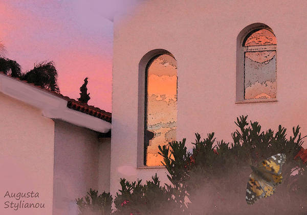 Sunset Poster featuring the photograph Sunset On Windows by Augusta Stylianou
