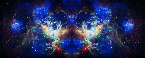 Tarantula Nebula Poster featuring the photograph Tarantula Nebula Reflection by The Vault - Jennifer Rondinelli Reilly