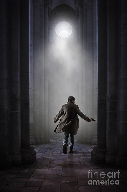 Abbey Poster featuring the photograph Temple Chase by Carlos Caetano